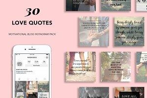 30 Love Quote Instagram Pack