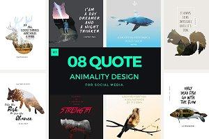Kewan - 8 Quote Animality Design