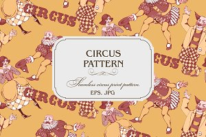 Seamless pattern. Clowns