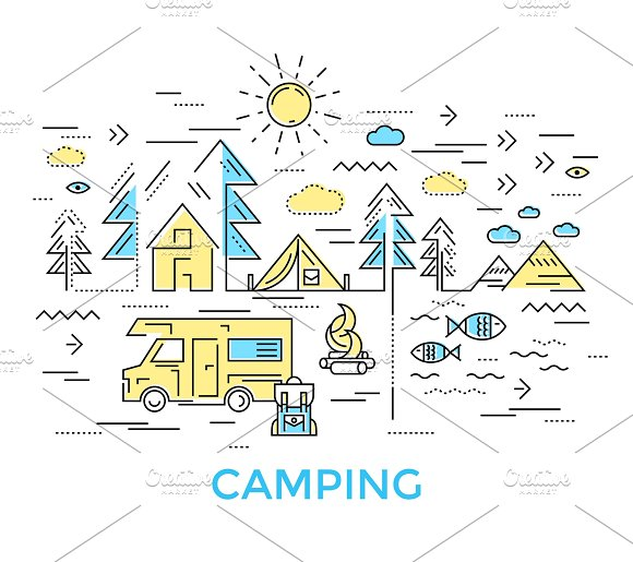 Camping Line Composition