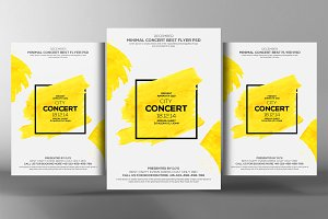Minimal Colors Flyer Psd