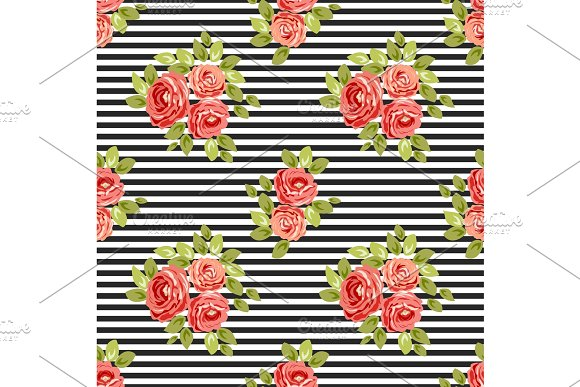 Cute vintage seamless shabby chic floral patterns for your decoration in Illustrations