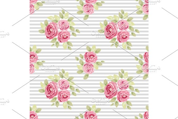 Cute vintage seamless shabby chic floral patterns for your decoration