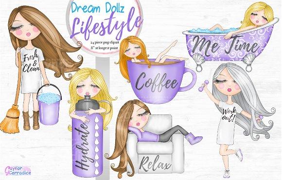 Dream Dollz Lifestyle clipart set