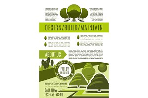 Landscaping and gardening business poster