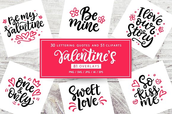 Valentine's Day Lettering in Objects