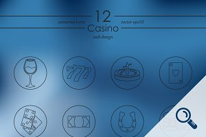 12 CASINO icons