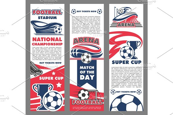 Football Sport Match Banner Of Soccer Championship
