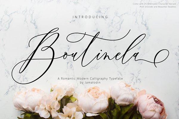 Boutinela Script