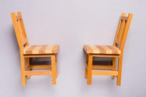 Miniature wooden furniture, chair
