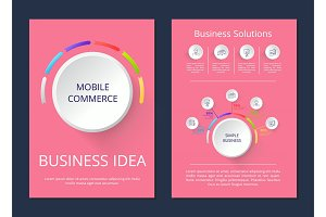 Mobile Commerce, Business Idea Vector Illustration
