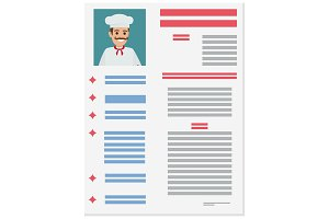 Resume of Experienced Italian Chef Illustration
