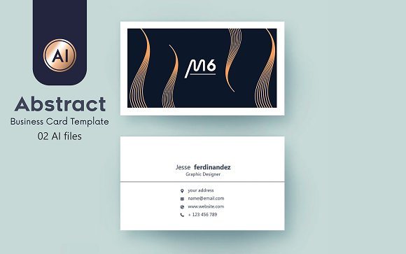 Abstract Business Card Template Business Card Templates - 35 x2 business card template