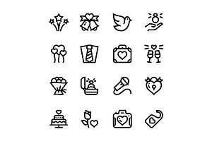 Wedding, Dating, Love Icons Pack 3
