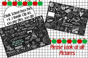 Chalk School Days ClipArt Bundle