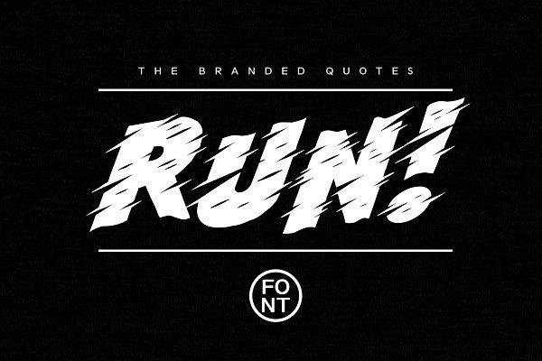Run! Font+Tutorial 50% Discount!