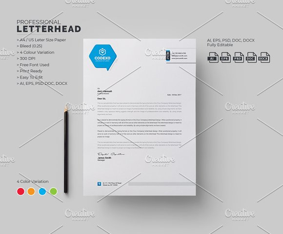Letterhead template stationery templates creative market letterhead template stationery spiritdancerdesigns Images