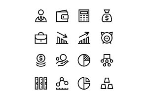 Finance, Business Icons Pack 1