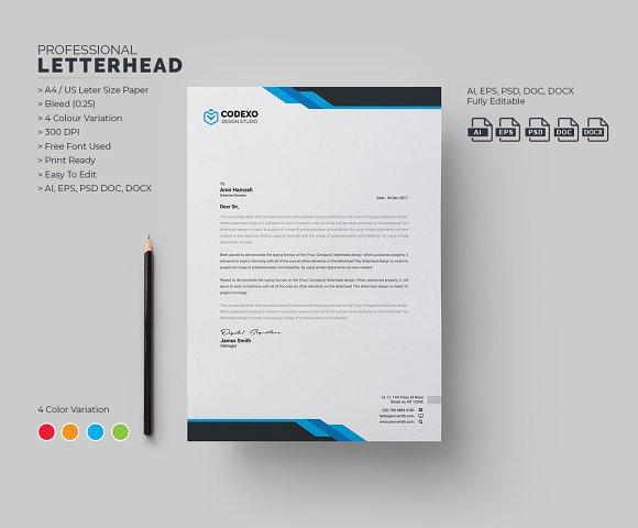 Modern Letterhead Stationery Templates Creative Market