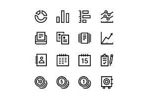 Finance, Business Icons Pack 2