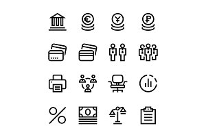 Finance, Business Icons Pack 3