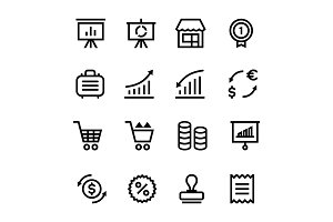 Finance, Business Icons Pack 4