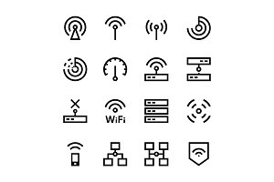 Internet, Network, Wifi Icons Pack 1