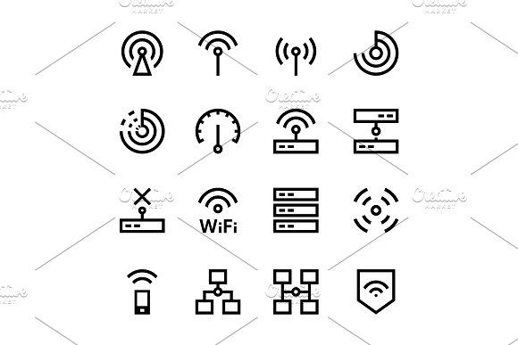 Internet Network Wifi Icons Pack 1