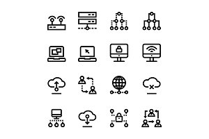 Internet, Network, Wifi Icons Pack 2
