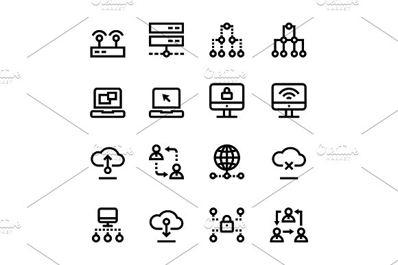 Internet Network Wifi Icons Pack 2
