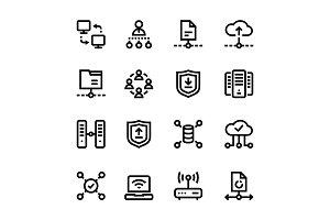 Internet, Network, Wifi Icons Pack 3