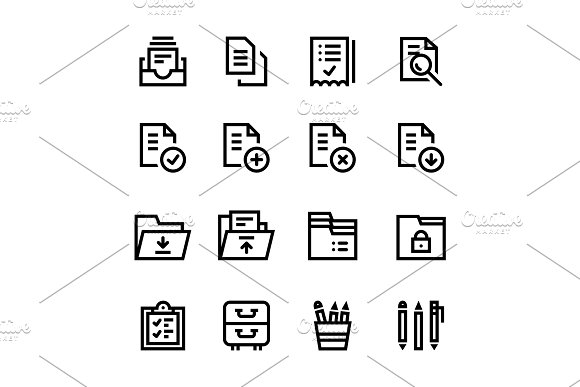 Document, Office Icons Pack 1