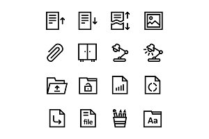 Document, Office Icons Pack 2