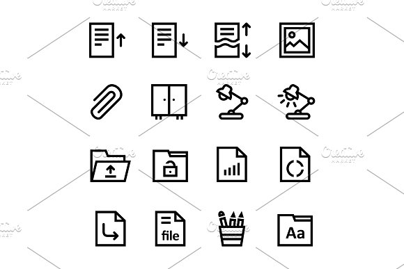 Document Office Icons Pack 2