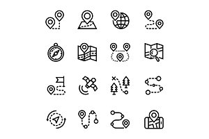 Navigation, Trip Icons Pack 1