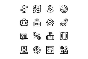 Navigation, Trip Icons Pack 2