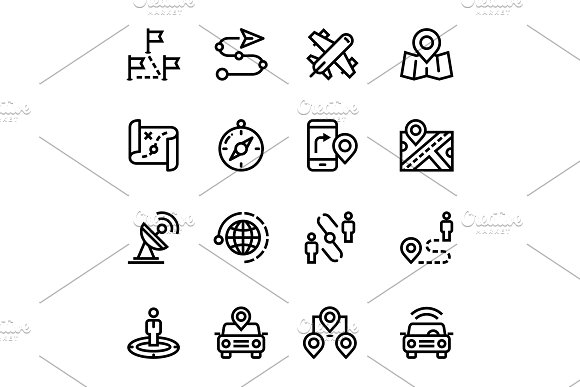 Navigation, Trip Icons Pack 3