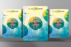 Club Colors Party Flyer