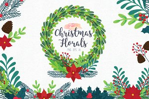 Christmas Floral Clipart