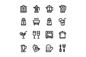 Restaurant, Cooking Icons Pack 2
