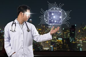 AI and technology physician concept
