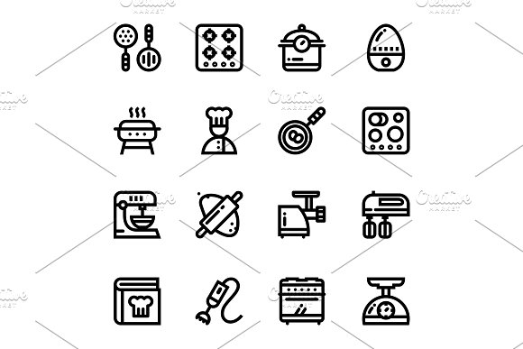 Restaurant, Cooking Icons Pack 3