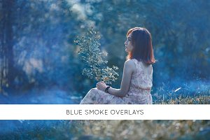 Blue smoke overlays