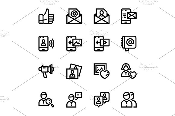 Social Media, Web Icons Pack 2