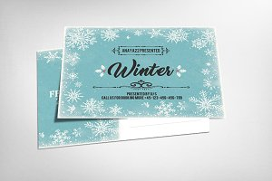 Electro Winter Party Card