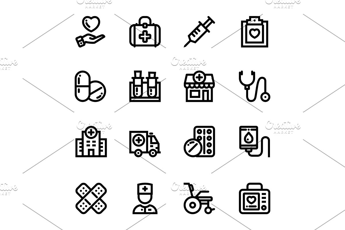 Medical, Health, Drug Icons Pack 1