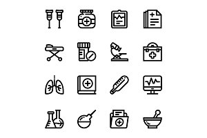 Medical, Health, Drug Icons Pack 2