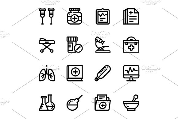 Medical, Health, Drug Icons Pack 2 in Graphics