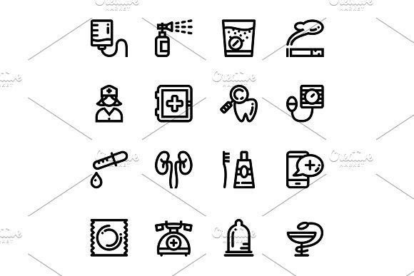 Medical, Health, Drug Icons Pack 3