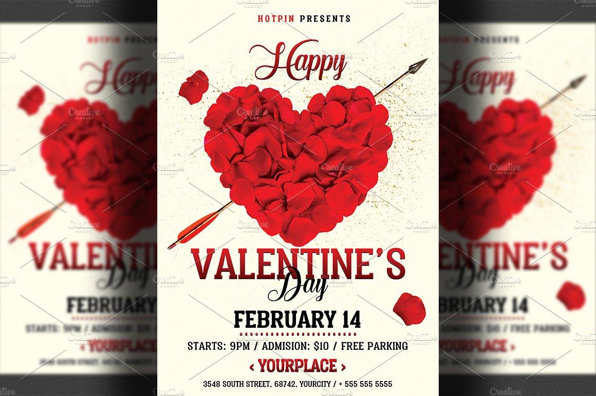 Valentines Day Flyer Flyer Templates Creative Market